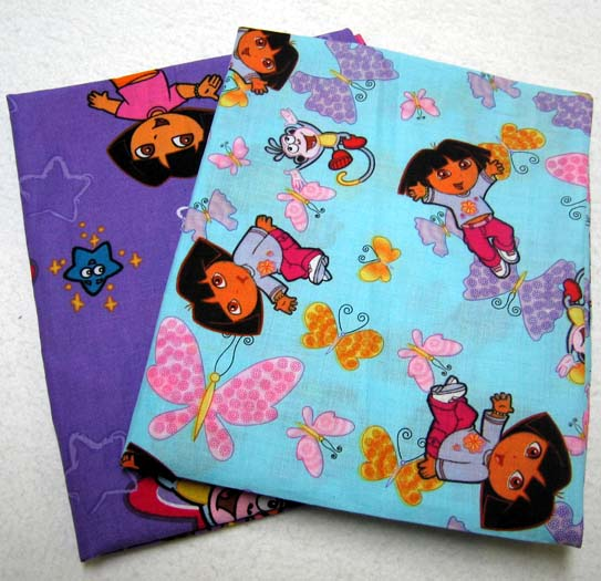 2 Pack Dora Cotton Baby Pillow Case