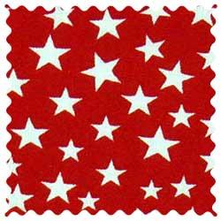 Stars Red Fabric
