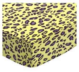 100% Cotton Woven - Leopard Portable / Mini Crib Sheets