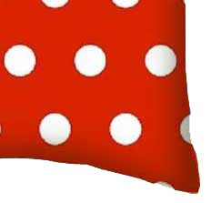 Percale Pillow Case - Polka Dots Red
