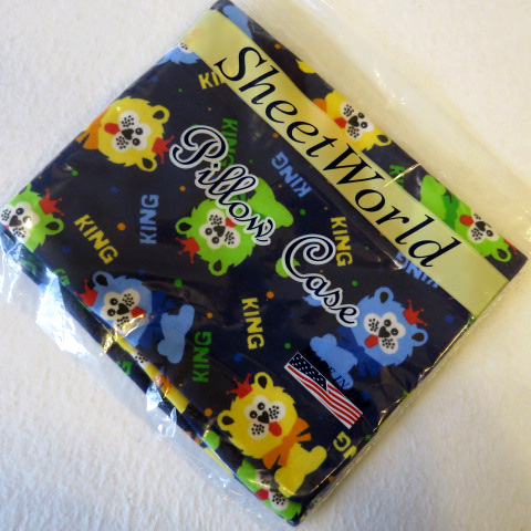 King Lion Flannel Baby Pillow Case