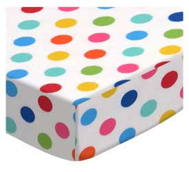 Primary Colorful Polka Dots Woven