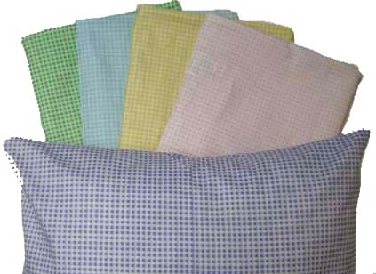 Percale Pillow Cases - Pastel Gingham Collection