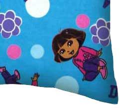 Flannel Pillow Case - Dora Blue
