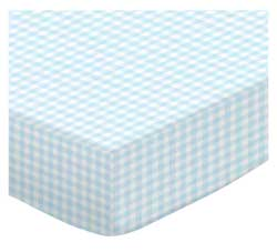 Pastel Blue Gingham Woven