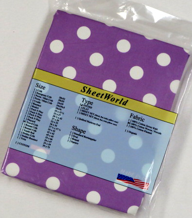 Polka Dot Lavender Cotton Travel Lite Playard Sheet - Fits BabyBjorn 24 x 42
