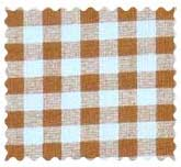 Beige Gingham Check Fabric