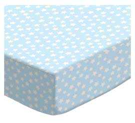 100% Cotton Woven - Pastel Hearts and Stars Round Crib Sheets