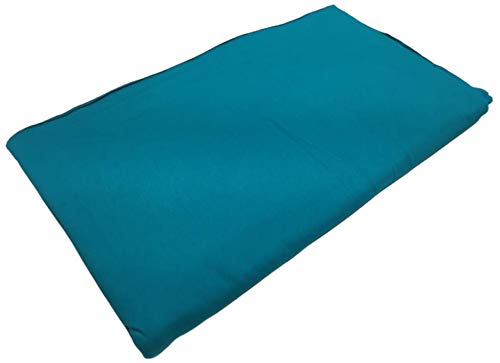 3 Pack - Solid Teal Jersey Fabric Strips - 24` x 40`