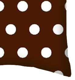 Percale Pillow Case - Brown Dots Black