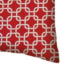Percale Pillow Case - Red Links