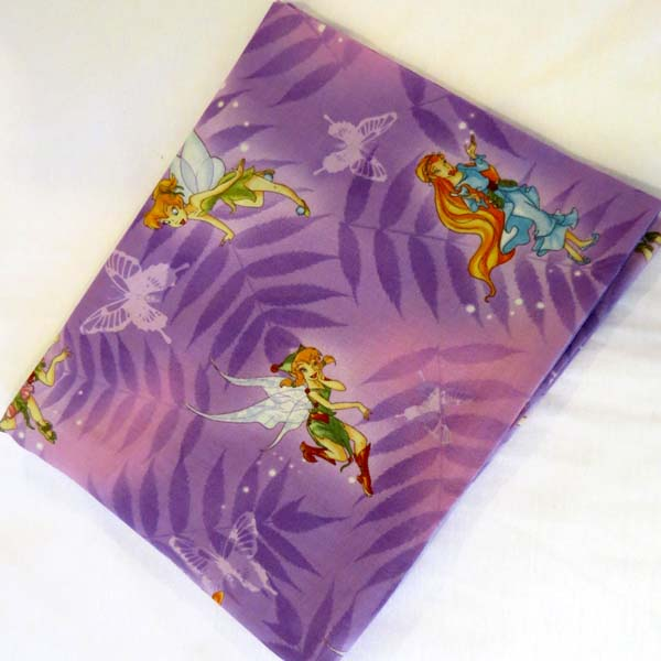 Fairies Purple Cotton Baby Pillow Case