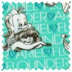 Ariel & Flounder Fabric