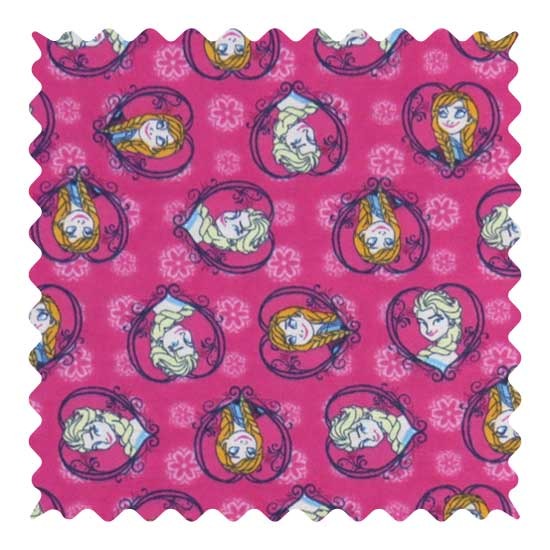 Anna Elsa Fabric - 100% Cotton Flannel - 27 x 42 inches
