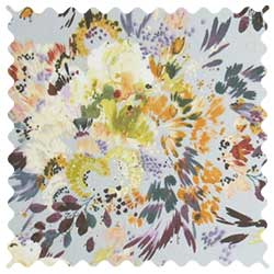 Modern Floral Garden Gray Fabric