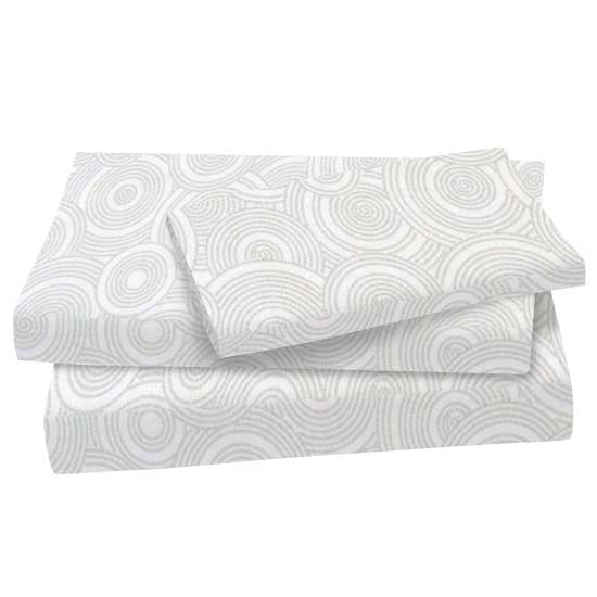 Grey Multi Circles Cotton Woven Twin