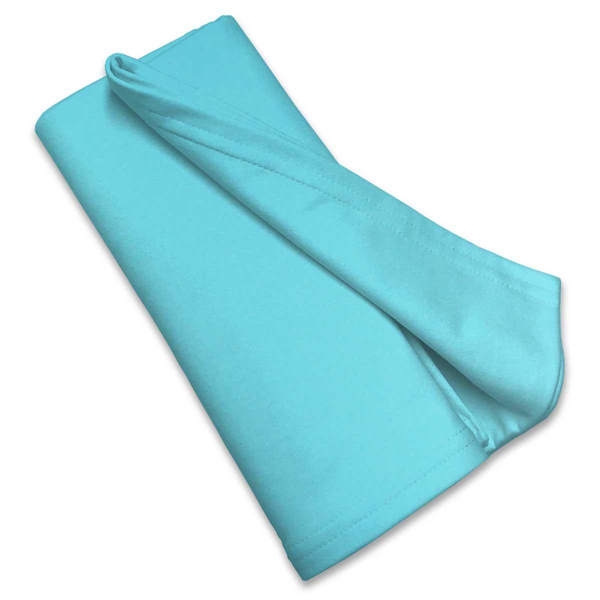 Solid Aqua Jersey Knit Portable Mini Crib Sheets