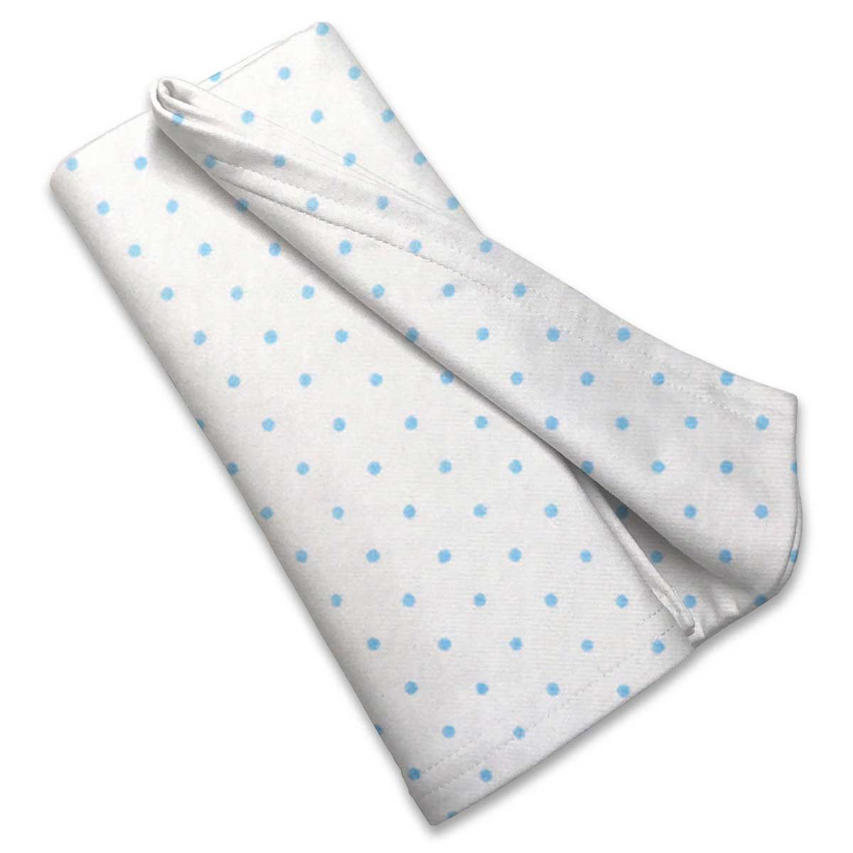 Blue Pindot Receiving Blanket