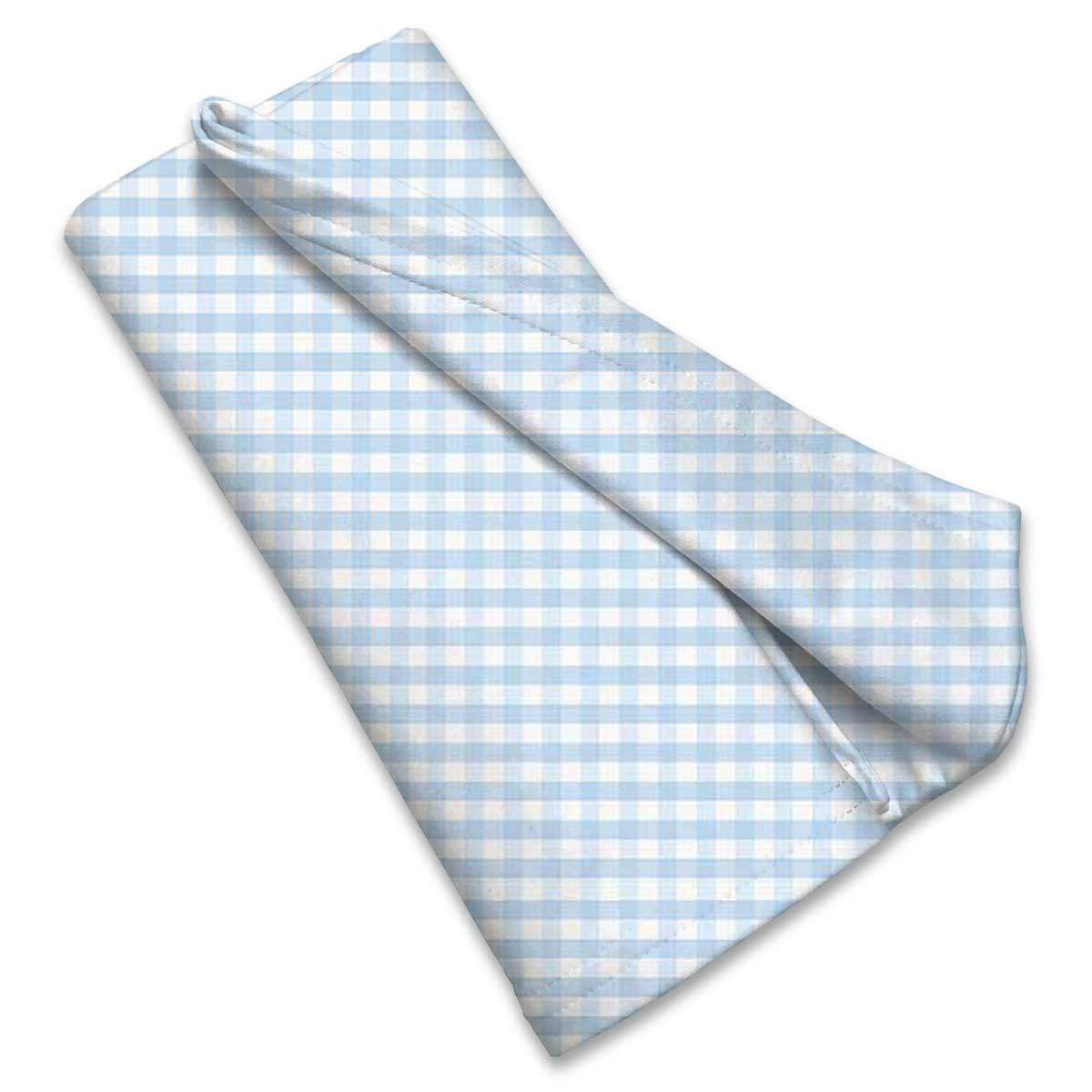 Blue Gingham Check Receiving Blanket