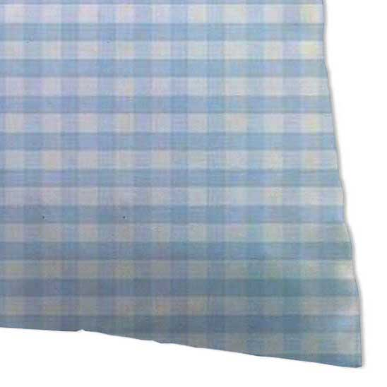 Twin Pillow Case - Blue Gingham Jersey Knit