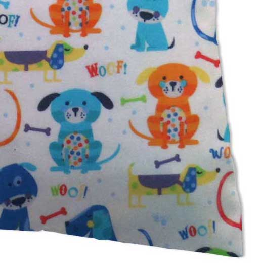 Flannel Pillow Case - Doggies