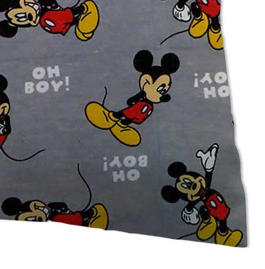 Flannel Pillow Case - Oh Boy Mickey Mouse