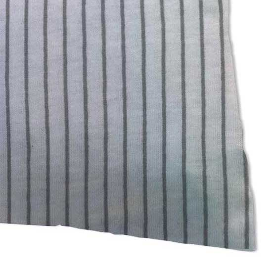 Twin Pillow Case - Grey Pinstripe Jersey Knit