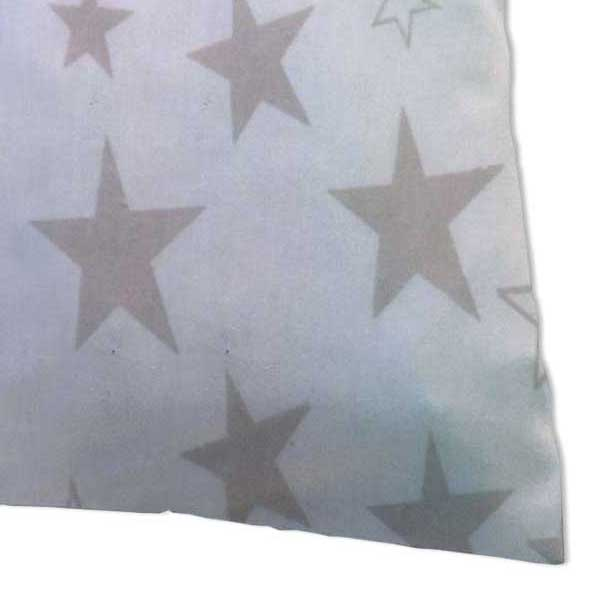 Baby Pillow Case - Grey Stars Jersey Knit
