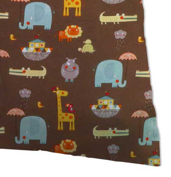 Baby Pillow Case - Noahs Ark Brown