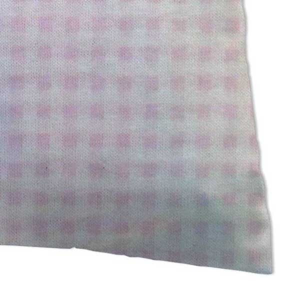 Twin Pillow Case - Pink Gingham Jersey Knit