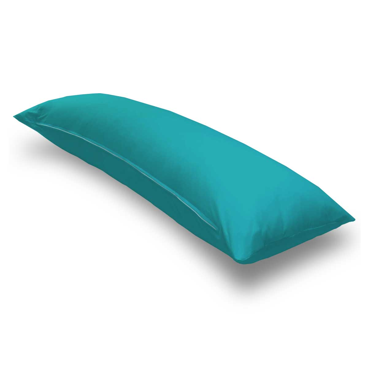 Solid Teal Jersey Knit Body Pillow Case