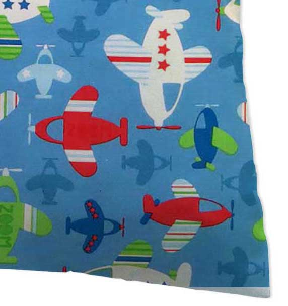 Percale Pillow Case - Baby Airplanes