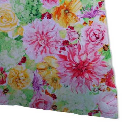 Percale Pillow Case - Bee Floral