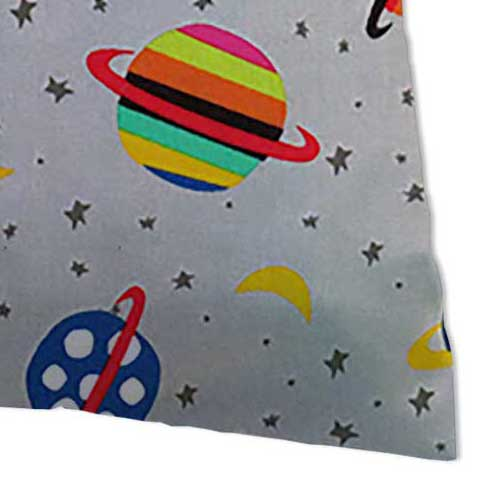 Twin Pillow Case - Planets Gray