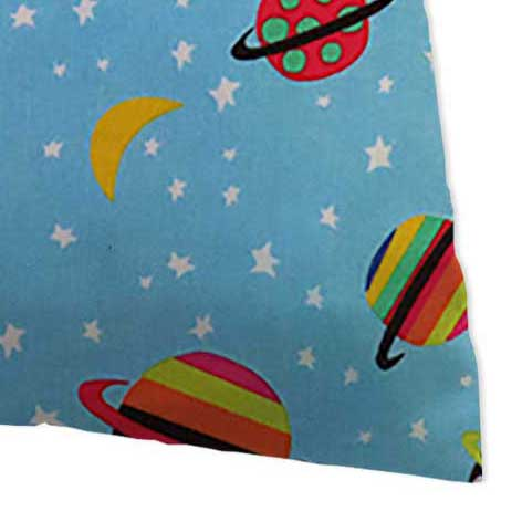 Percale Pillow Case - Planets Blue