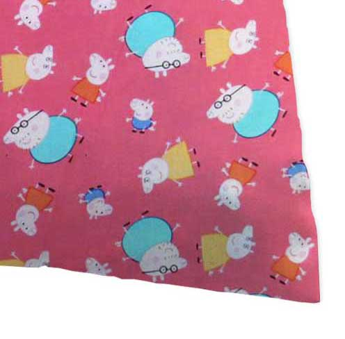 Percale Pillow Case - Peppa Pig Pink