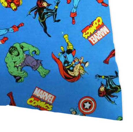 Percale Pillow Case - Marvel Comics Blue