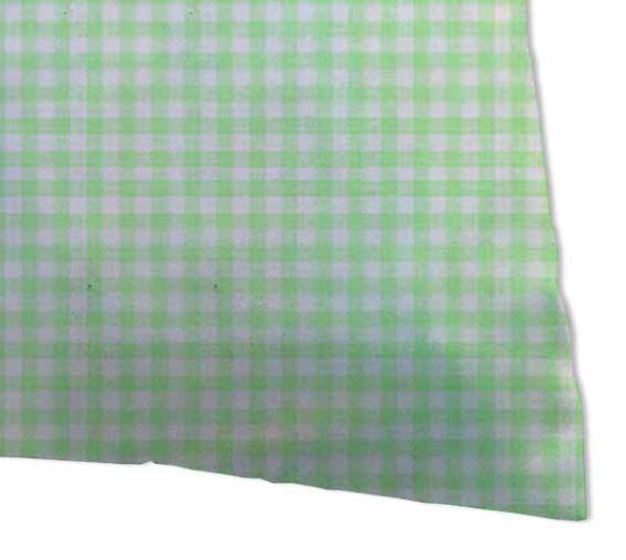 Percale Pillow Cases - Pastel Green Gingham Woven