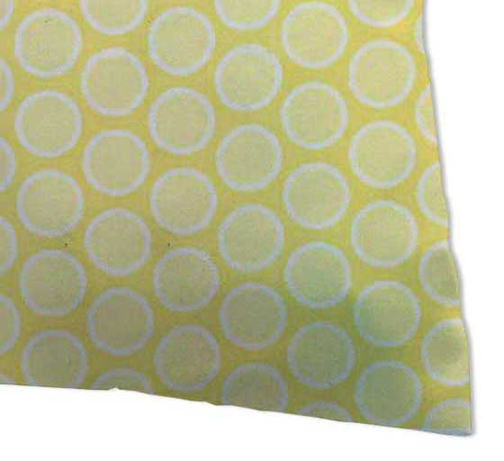 Percale Pillow Cases - Pastel Yellow Bubbles Woven