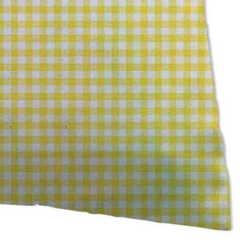 Percale Pillow Cases - Primary Yellow Gingham Woven