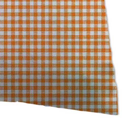 Percale Pillow Cases - Primary Orange Gingham Woven