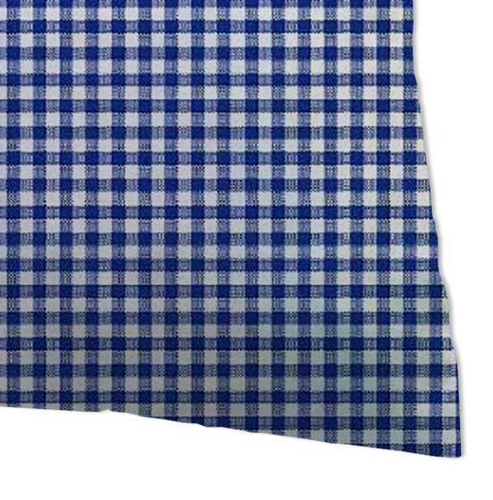 Percale Pillow Cases - Primary Navy Gingham Woven
