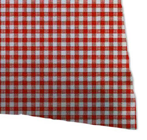 Percale Pillow Cases - Primary Red Gingham Woven