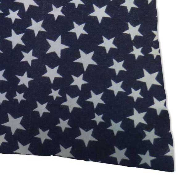 Percale Pillow Cases - Primary Stars White On Navy Woven