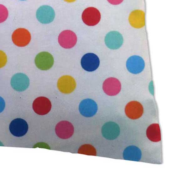 Percale Pillow Case - Primary Colorful Polka Dots Woven