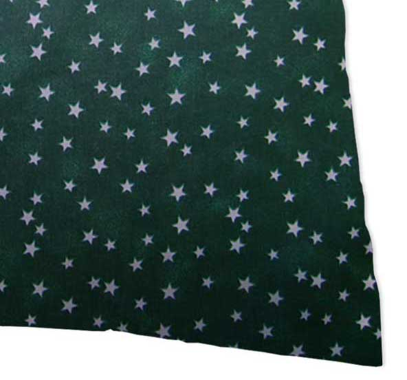 Percale Pillow Cases - Cloudy Stars Hunter Green