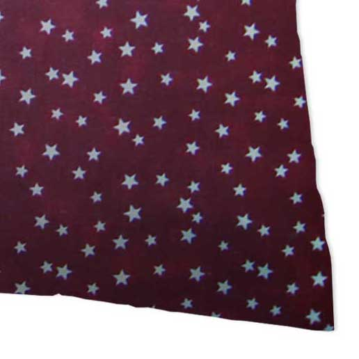 Percale Pillow Cases - Cloudy Stars Burgundy