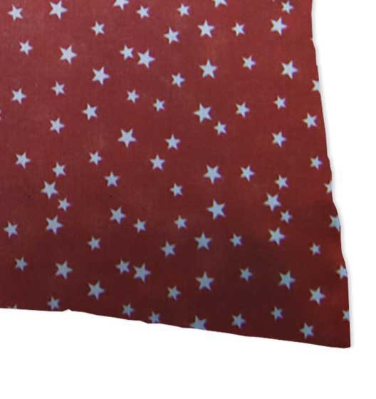 Percale Pillow Cases - Cloudy Stars Rust