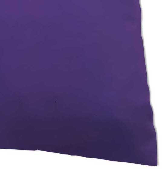 Percale Pillow Case - Solid Purple Woven