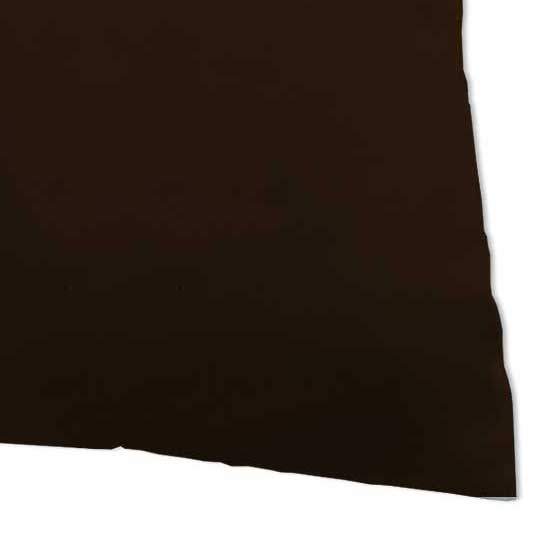 Percale Pillow Case - Solid Brown Woven